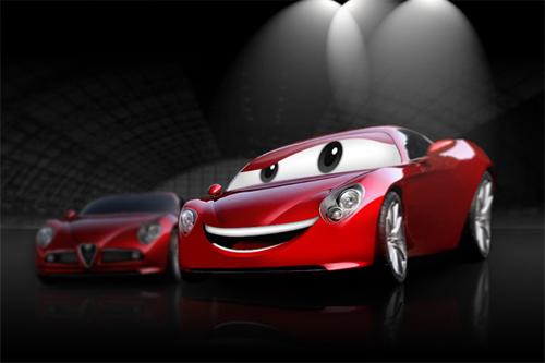 Create-a-Cartoon-Car-Similar-to-Cars-Movie