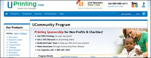 UPrinting Website Sponsorship Programs 7