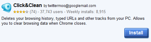 For Chrome: Clear Browsing History With A Click Of A Button 1