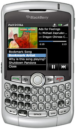 Music Lover?? Try Pandora On Your Blackberry 3