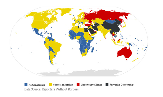 Current State Of Freedom On The Internet (Infographic) 2