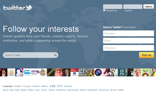 Twitter.com Gets New Homepage Design (Screenshot) 2