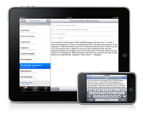 wordpress-for-ipad