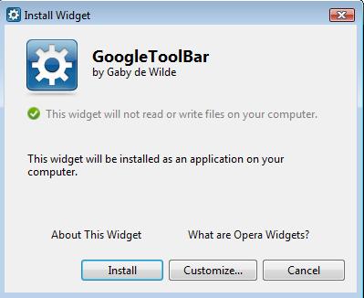 Get Google ToolBar On Opera To Improve Productivity 1