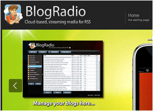 BlogRadio: A Tool To Convert RSS Feeds Into Audio 6