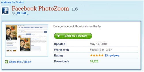 Enlarge Facebook Photos By Hover Mouse Pointer (Firefox+Chrome Plugin) 2