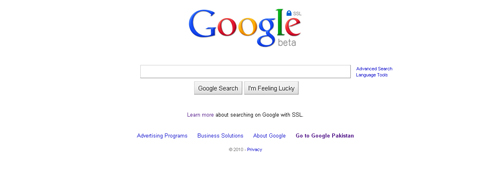 Google.com Powered With SSL For Encrypted Private Searching 1