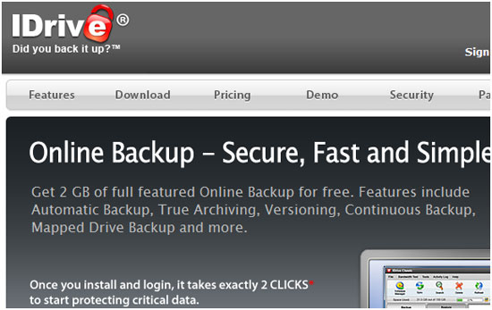 IDrive Gives Online Data Backup Facility With Up To 10GB Free Space 12