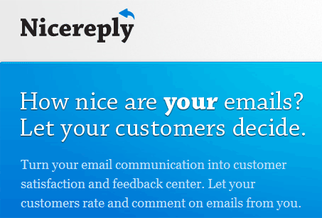 Let Your Customers Rate Your Emails With Nice Reply 13