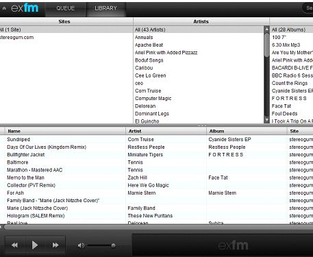 ExtentionFm Helps You Create A Playlist Of Your Mp3 Songs On Your Favorite Website 4