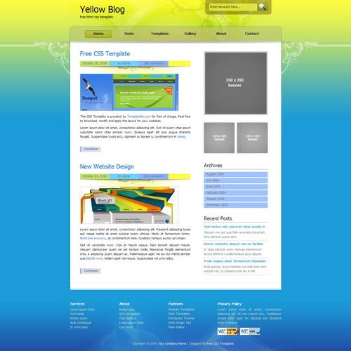templatemo_157_yellow_blog