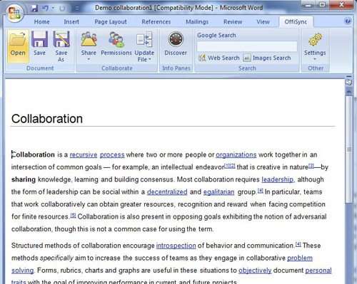 OffiSync Supercharges Microsoft Office By Enabling Real-time Co-Authoring And Google Apps Integration 3
