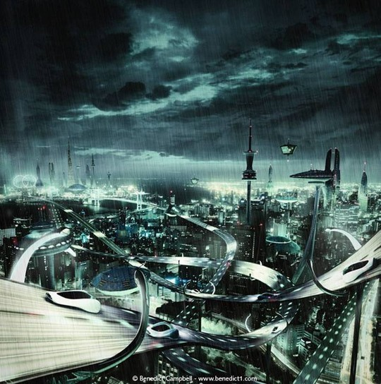 World Of Fantasy And Imagination Which Depict Future Cities (Dreamy Artworks) 19