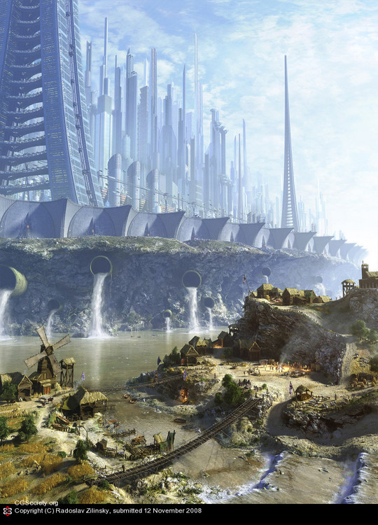 World Of Fantasy And Imagination Which Depict Future Cities (Dreamy Artworks) 21