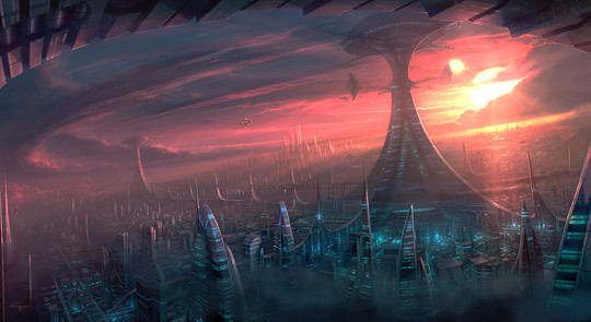 World Of Fantasy And Imagination Which Depict Future Cities (Dreamy Artworks) 22