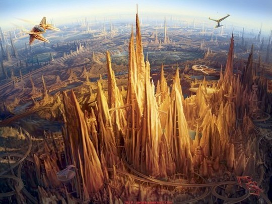 World Of Fantasy And Imagination Which Depict Future Cities (Dreamy Artworks) 24
