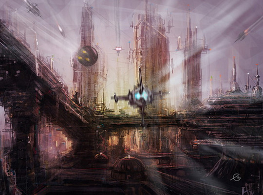World Of Fantasy And Imagination Which Depict Future Cities (Dreamy Artworks) 25