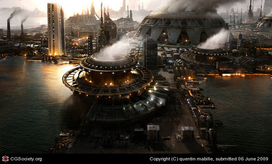 World Of Fantasy And Imagination Which Depict Future Cities (Dreamy Artworks) 26