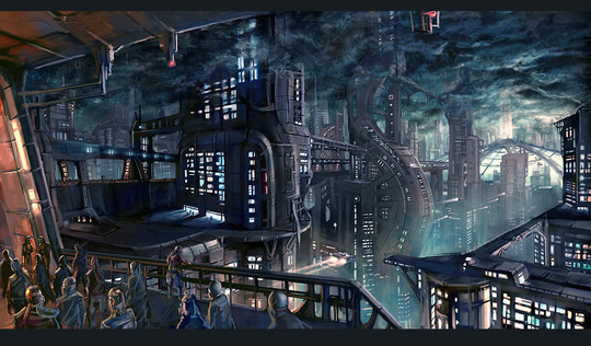 World Of Fantasy And Imagination Which Depict Future Cities (Dreamy Artworks) 27