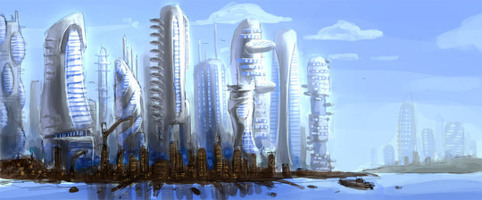 World Of Fantasy And Imagination Which Depict Future Cities (Dreamy Artworks) 28
