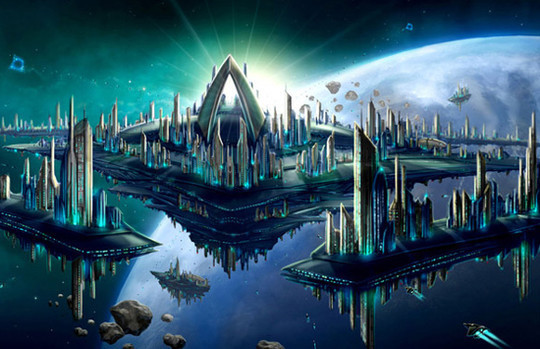 World Of Fantasy And Imagination Which Depict Future Cities (Dreamy Artworks) 2