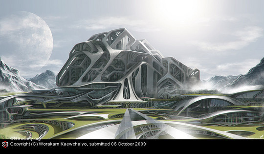 World Of Fantasy And Imagination Which Depict Future Cities (Dreamy Artworks) 3
