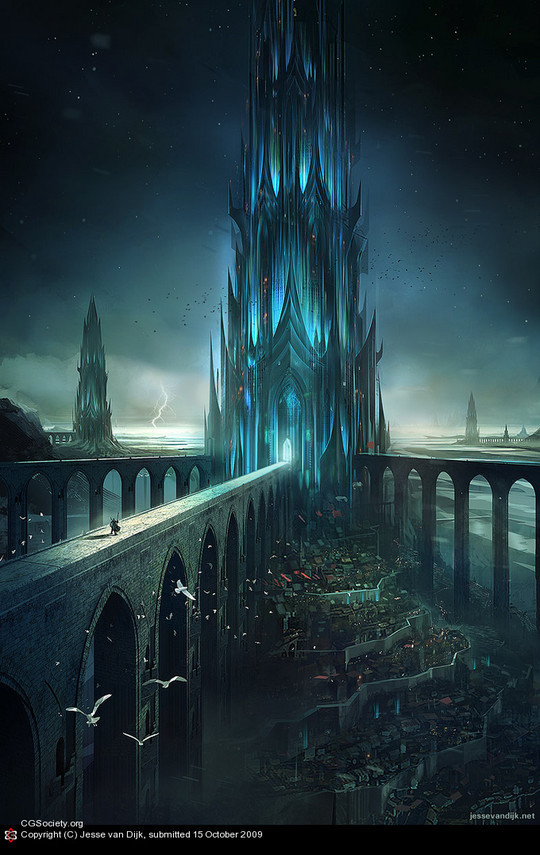World Of Fantasy And Imagination Which Depict Future Cities (Dreamy Artworks) 5