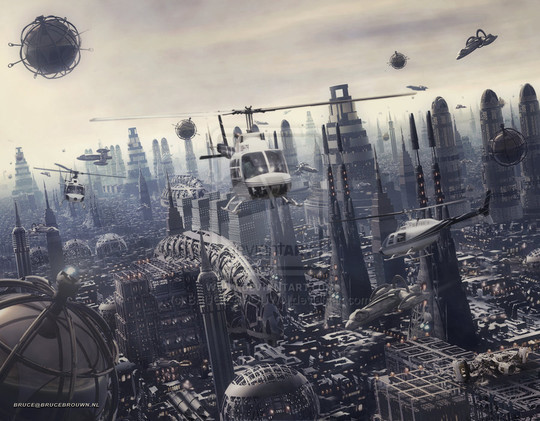 World Of Fantasy And Imagination Which Depict Future Cities (Dreamy Artworks) 40