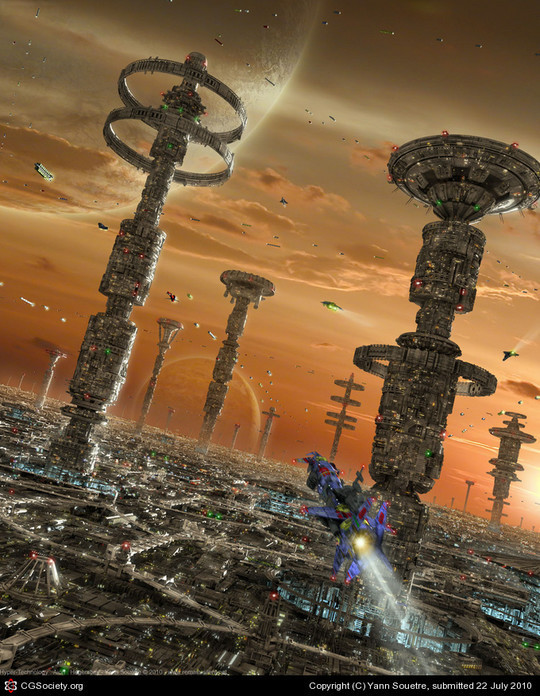 World Of Fantasy And Imagination Which Depict Future Cities (Dreamy Artworks) 1