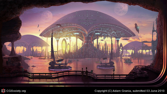 World Of Fantasy And Imagination Which Depict Future Cities (Dreamy Artworks) 13