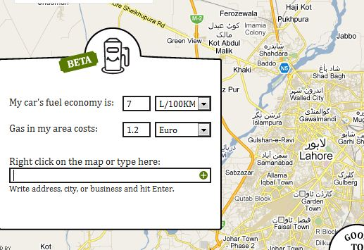 Go-Gas Helps You Calculate The Estimated Cost Of Fuel Required For Your Trip 7