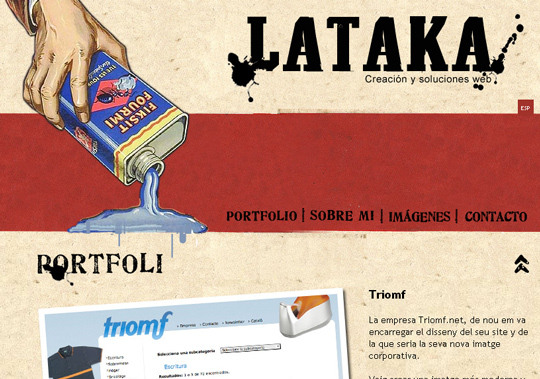 The Most Creative Examples Of Vintage And Retro Style Website (40 Designs) 20