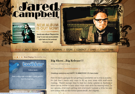 The Most Creative Examples Of Vintage And Retro Style Website (40 Designs) 26