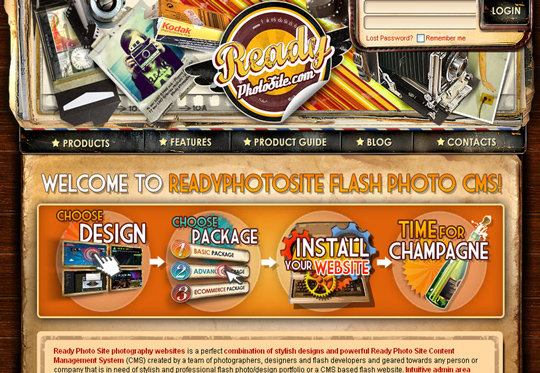The Most Creative Examples Of Vintage And Retro Style Website (40 Designs) 31