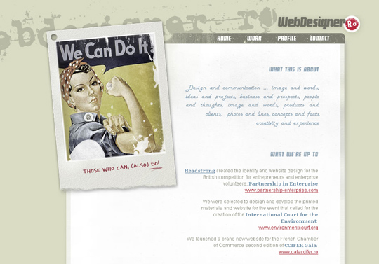 The Most Creative Examples Of Vintage And Retro Style Website (40 Designs) 35