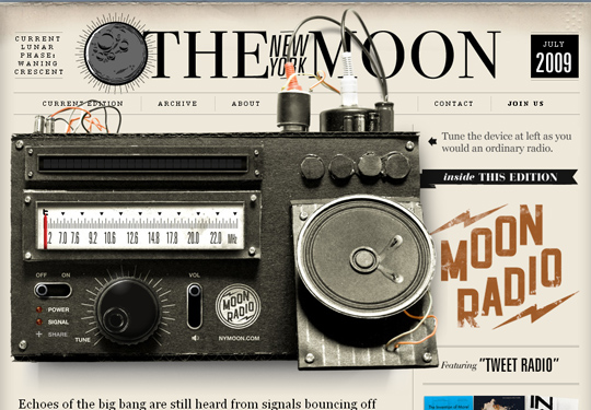 The Most Creative Examples Of Vintage And Retro Style Website (40 Designs) 38