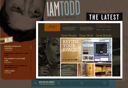 The Most Creative Examples Of Vintage And Retro Style Website (40 Designs) 39