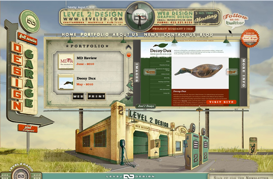 The Most Creative Examples Of Vintage And Retro Style Website (40 Designs) 8