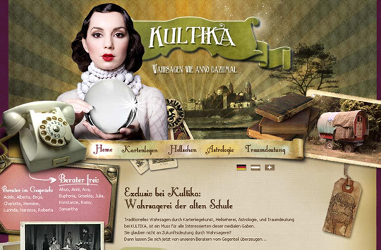 The Most Creative Examples Of Vintage And Retro Style Website (40 Designs) 1