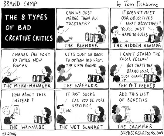 The 8 Types Of Bad Creative Critics (Comic) 9