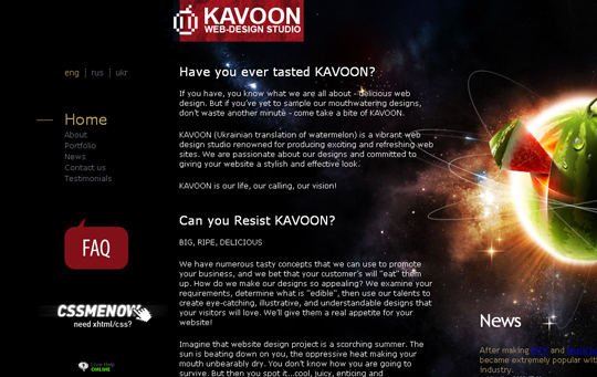 The Beautiful Use Of Black In Web Design To Grab Viewer's Attention 27