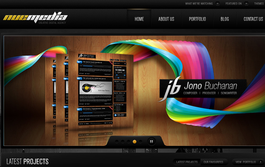 The Beautiful Use Of Black In Web Design To Grab Viewer's Attention 2