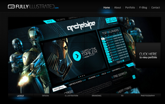 The Beautiful Use Of Black In Web Design To Grab Viewer's Attention 5