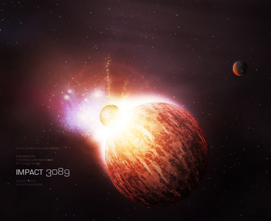 """40 Robust Tutorials Of """"How To Create Planet And Space Art"""" On Photoshop 4"""