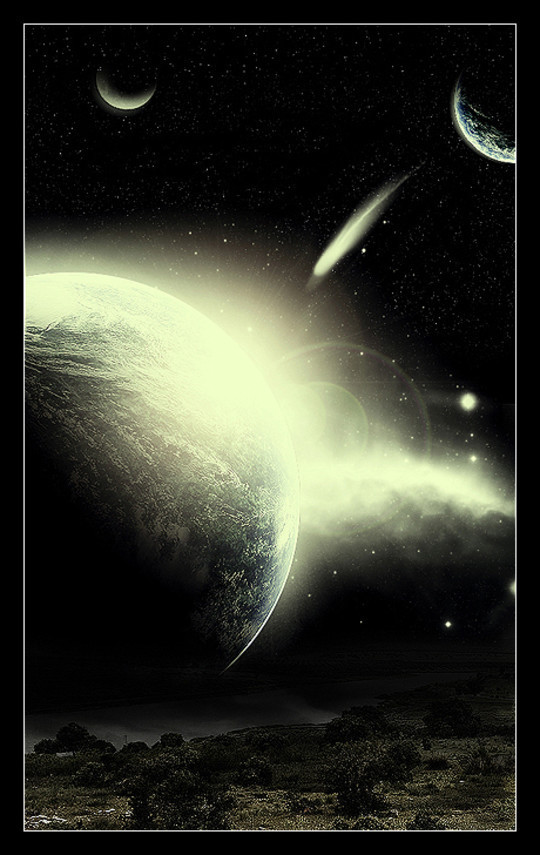 """40 Robust Tutorials Of """"How To Create Planet And Space Art"""" On Photoshop 29"""