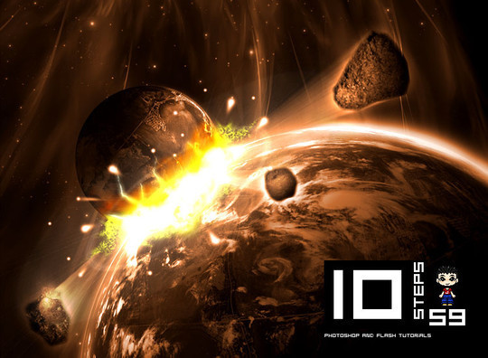 """40 Robust Tutorials Of """"How To Create Planet And Space Art"""" On Photoshop 1"""