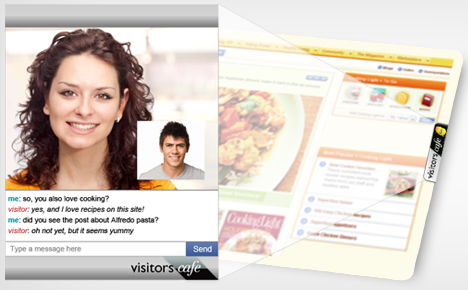 VisitorsCafe PRO (Smart Video Chat For Your Site) Giveaway 1