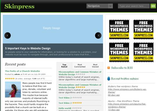 The Best Premium-Like Free Wordpress Themes Of 2010 28