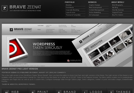 The Best Premium-Like Free Wordpress Themes Of 2010 40