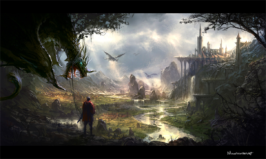 """21 Stunning Video Game Concept Art That Make You Say """"Wow"""" 2"""